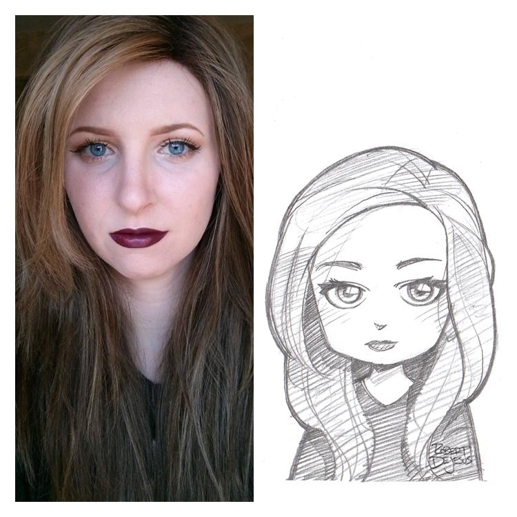 Artista transforma fotografías de personas en personajes de anime Ukulehailey_sketch_by_banzchan-d7gj8wc