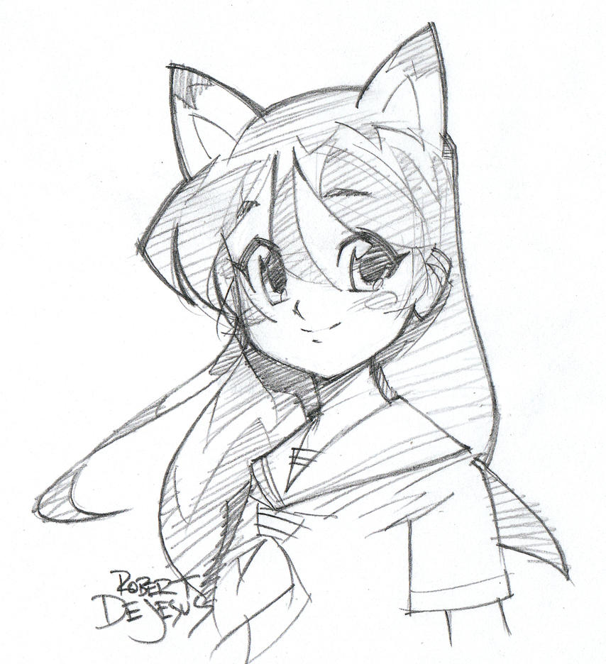 Anime Simple Cat Hanging