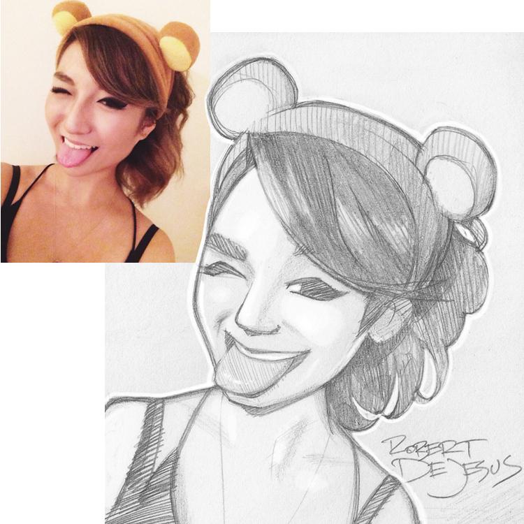 Artista transforma fotografías de personas en personajes de anime Rosemarycracker_sketch_by_banzchan-d7re3uo
