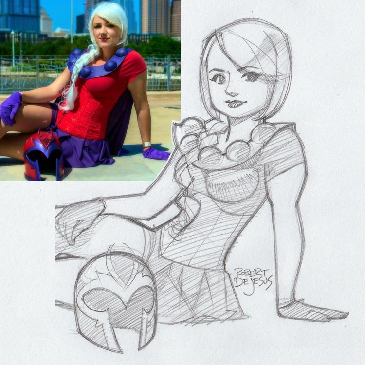 Artista transforma fotografías de personas en personajes de anime Amy_sketch_by_banzchan-d7rwjfn