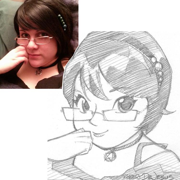 Artista transforma fotografías de personas en personajes de anime Desiree_commission_by_banzchan-d7sv7dg