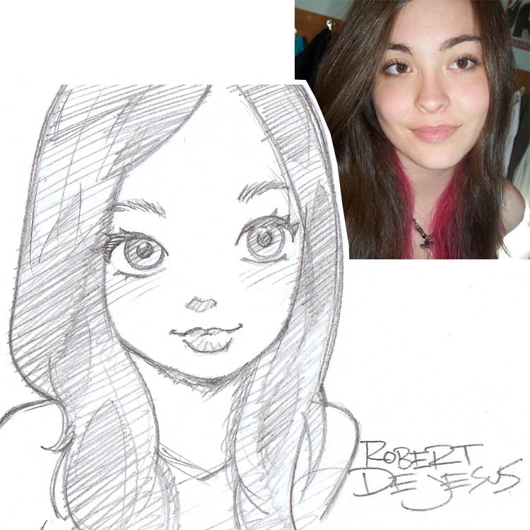 Artista transforma fotografías de personas en personajes de anime Lady__mcgaha_sketch_by_banzchan-d7tiigk