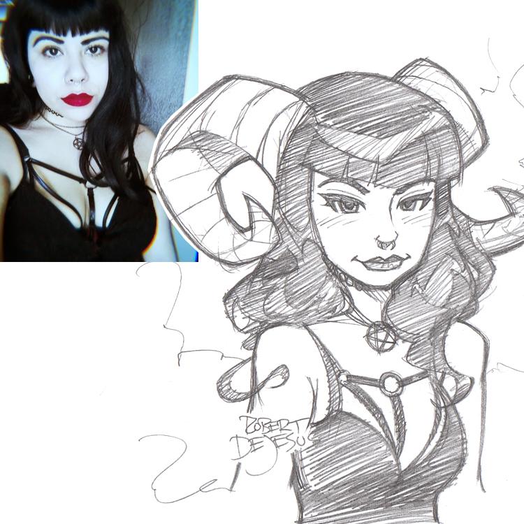 Artista transforma fotografías de personas en personajes de anime Lillith_moon666_sketch_by_banzchan-d7vsd6n