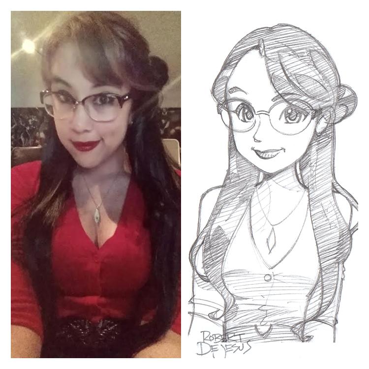 Artista transforma fotografías de personas en personajes de anime Amanda_commission_by_banzchan-d7vwvim