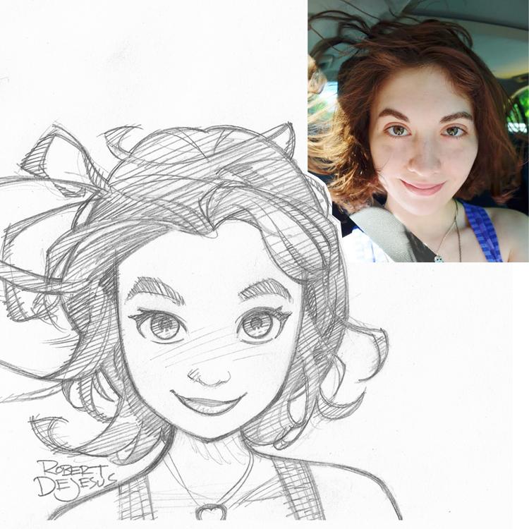 Artista transforma fotografías de personas en personajes de anime Siara_commission_by_banzchan-d7wz6pf