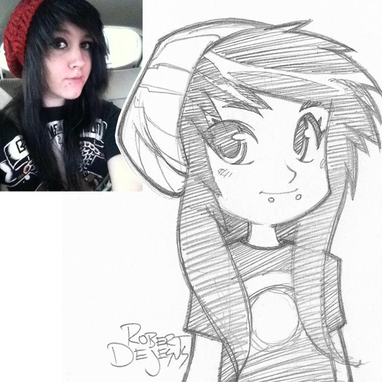 Artista transforma fotografías de personas en personajes de anime Zru_sketch_by_banzchan-d7x3fdx