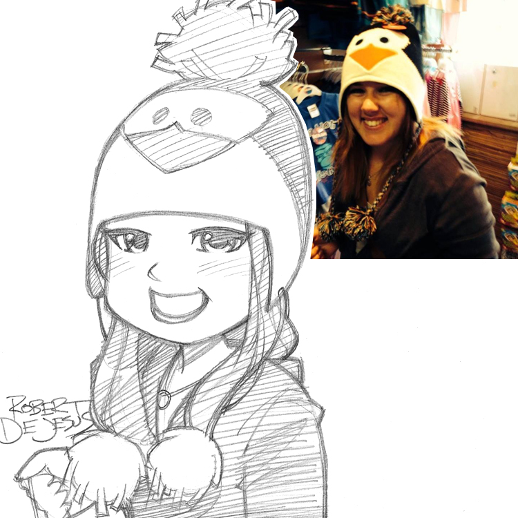 Artista transforma fotografías de personas en personajes de anime Jamie_commission_by_banzchan-d7x69t7