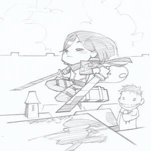 Chibi Mikasa Attack on Titan