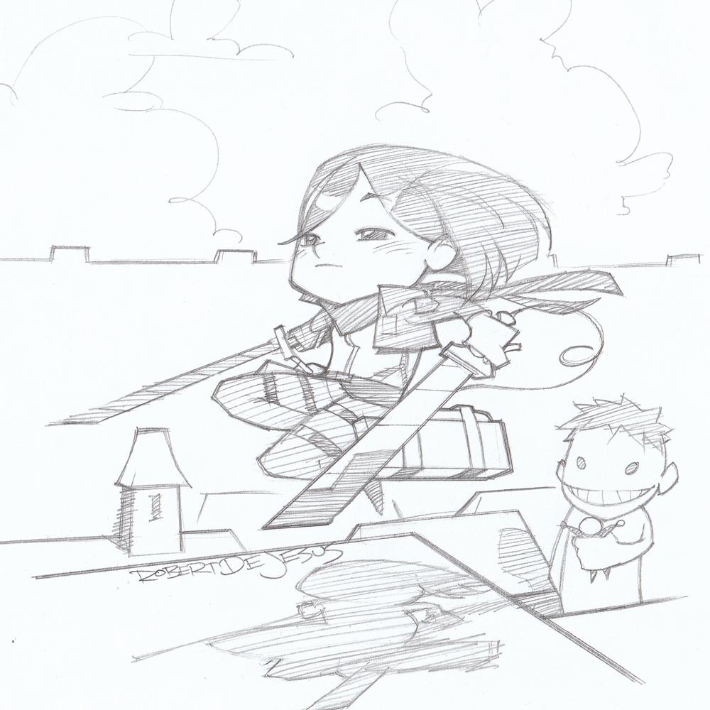 Chibi Mikasa Attack on Titan by Banzchan