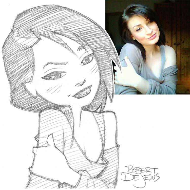 Artista transforma fotografías de personas en personajes de anime Nelli_commission_by_banzchan-d7y0mk0