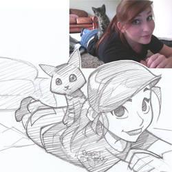 Dejafeutre Sketch by Banzchan