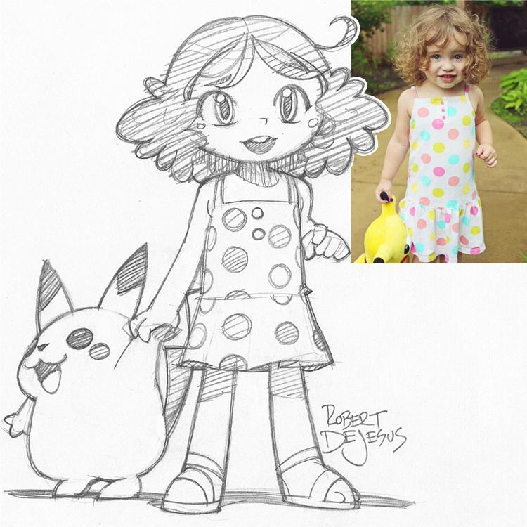 Artista transforma fotografías de personas en personajes de anime Holycrapitslacey_sketch_by_banzchan-d7yvi6l