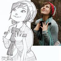 Felynx and Enderman Sketch
