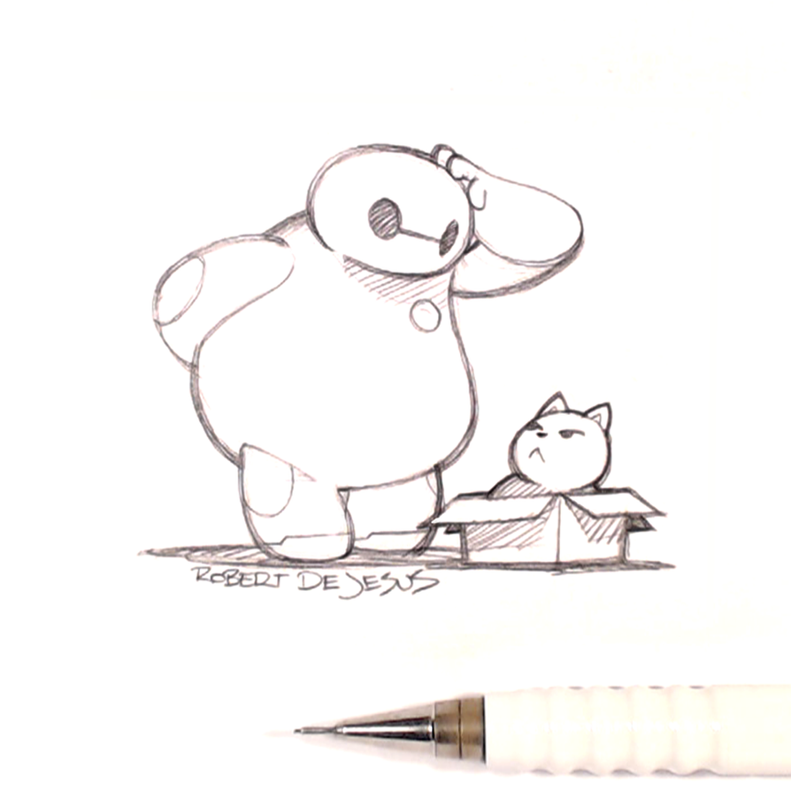Baymax and mochi by banzchan on deviantart for Cute pencil drawings tumblr