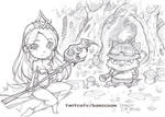 League of legends Janna and Teemo