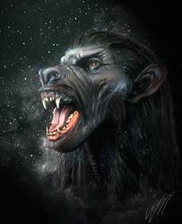 Female Werewolf by WayneRobson