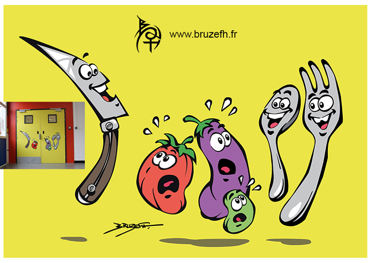 Legumes et couverts (vegetables and cutlery) by Bruzefh