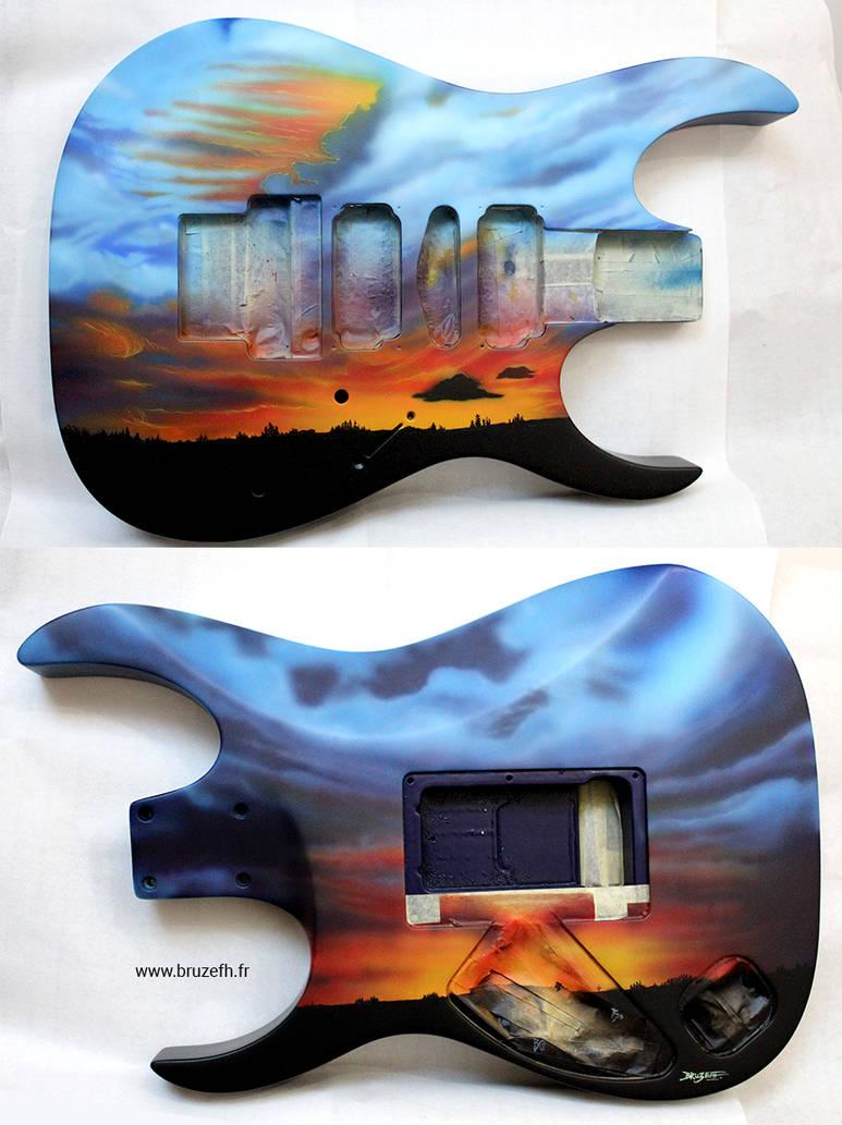 Guitar Ibanez RG570 custom paint by Bruzefh