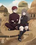 : commission : Gaara and Michiru :