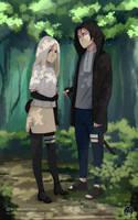 : in forest : by Lala-Mot