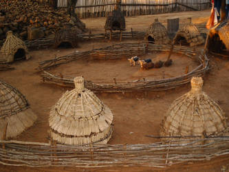 Traditional Zulu Settlement by sexc-blonde-angel