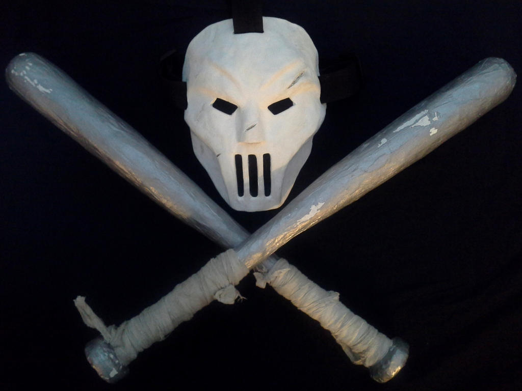 Casey Jones cosplay mask and N Letter Wallpaper For Mobile