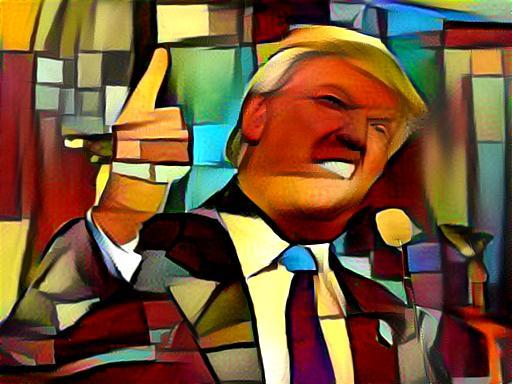 Trump Cubism by lherrerabenitez