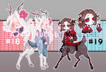Adoptable auction #18-19 [CLOSED].
