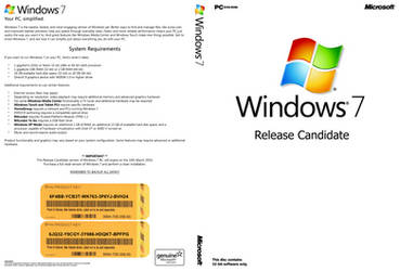 Windows 7 RC DVD Cover