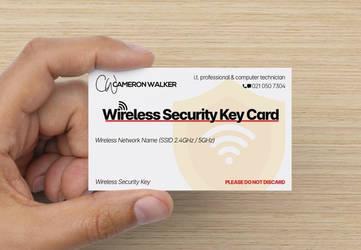 Wireless Security Key Card