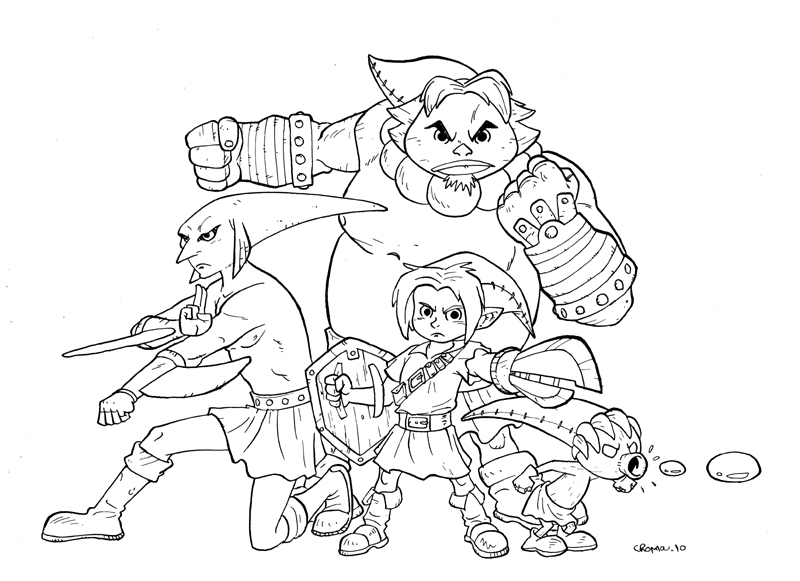 Majoras wrath coloring pages ~ Majora's mask B-W by CROMOU on DeviantArt
