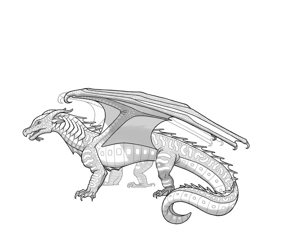 Book 2 the lost heir by tui t sutherland by tsunamirules for Wings of fire coloring page