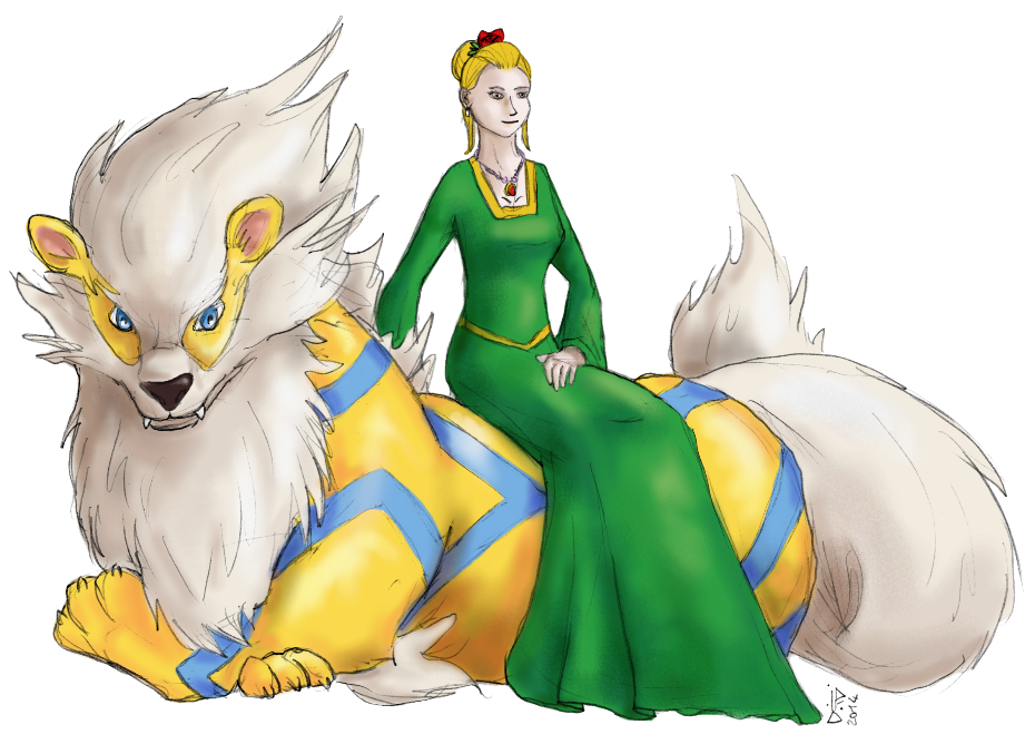 Arcanine and Katerine by GalopaWXY