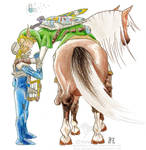 +Zelda YAOI+ Farewell COLOURED by GalopaWXY