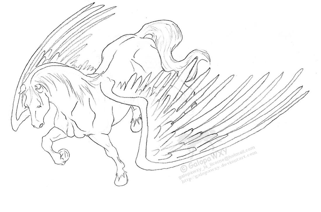 how to draw a unicorn trace and copy