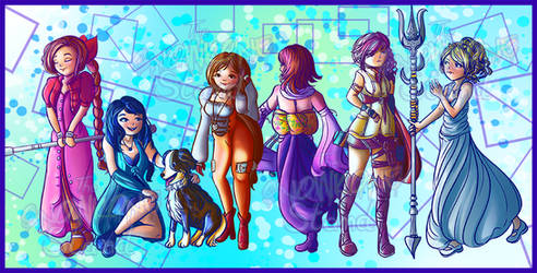 Final Fantasy Gen 2 Heroines by kellieabomination