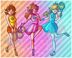 Mario Tennis Princesses by kellieabomination