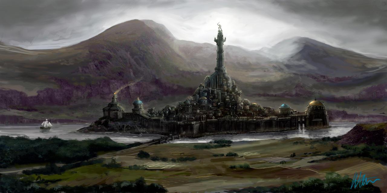 Ancient fantasy city