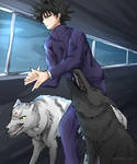 Megumi with his divine dogs