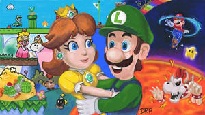 Luigi and Daisy by davidpustansky