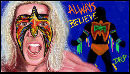 The Ultimate Warrior Will Run Forever by davidpustansky