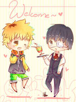{Tokyo Ghoul} Welcome~ by Paluumin