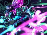 {league of legends} k/da akali [SPEEDPAINT]