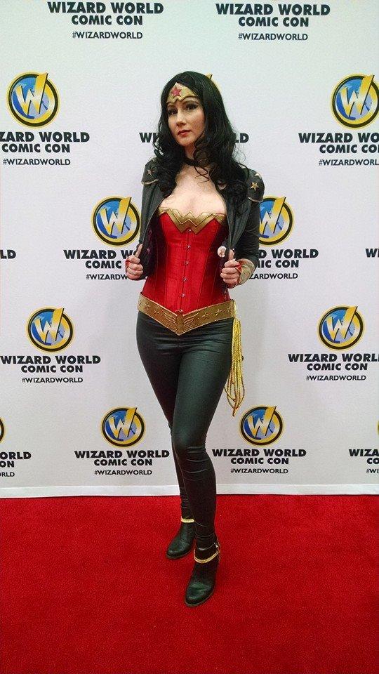 Leather Jacket Wonder Woman cosplay by vandersnark