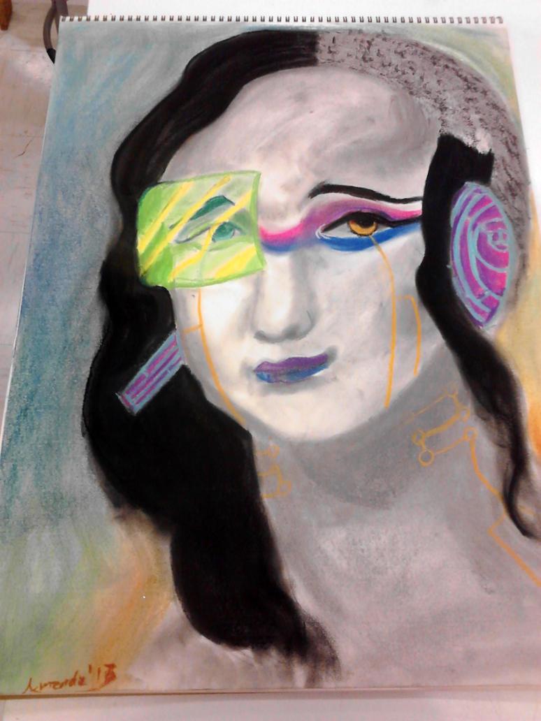 Cyber Punk Mona Lisa by FragGrrl