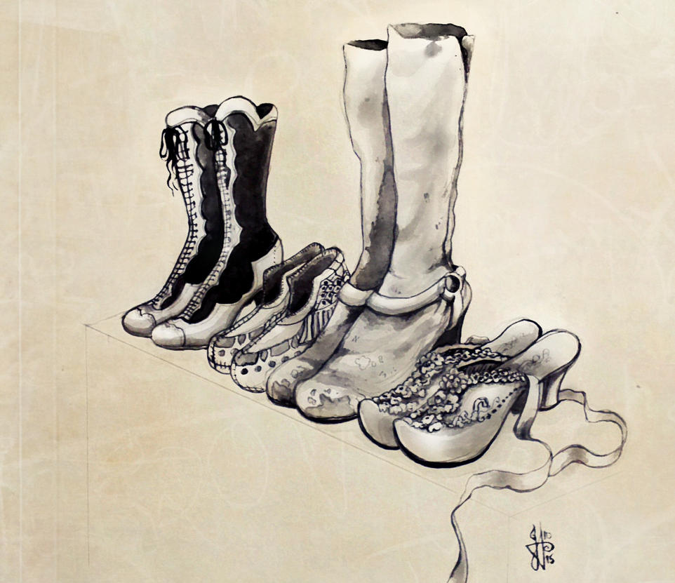 Women Shoes Drawings Images