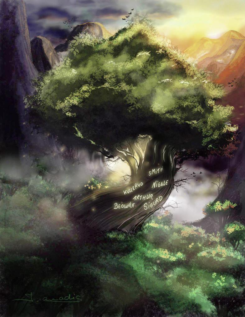 Tolkien's tree by JulietteAmadisArt