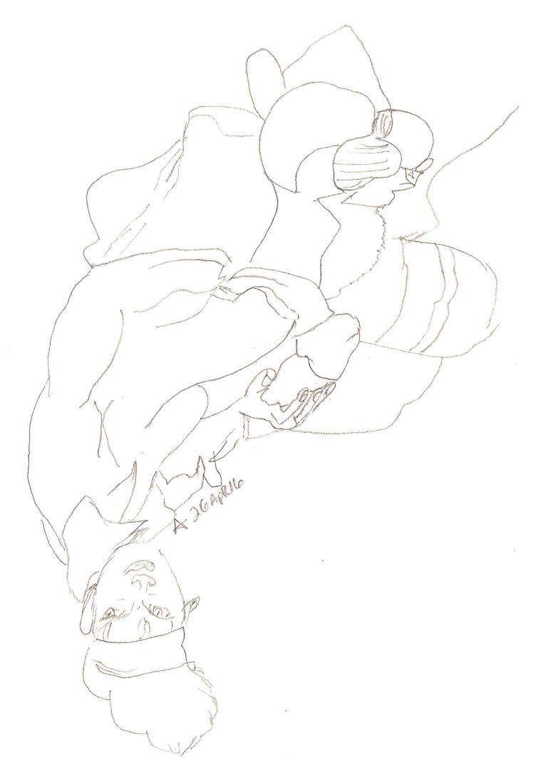 Line Drawing Upside Down : Dotrsotb f upside down drawing by asheeltonparker on