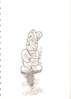 Straightjacket Bunny Sketch 31 Aug 16