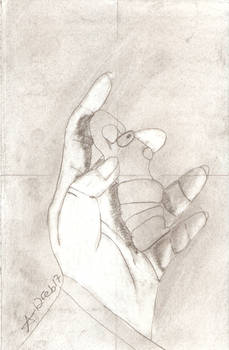 12 Feb 17 - Artist's Hand Holding Figurine
